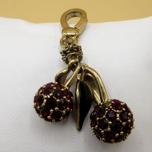 Juicy Couture Red Crystal Cherries Charm